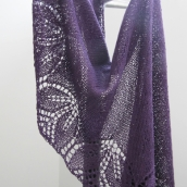 purple lace shawl
