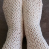 white lace socks